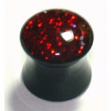 Red Hologram Glitter Acrylic Saddle Plug