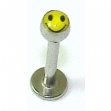 Smiley Face Logo Lip / Tragus Micro Labret Stud 1.2mm