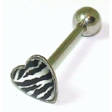 Zebra Print Heart Tongue Bar