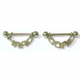Pair Of 'Hard Core' Dangle Nipple Shields & Bars
