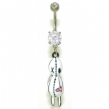 Voodoo Doll Dangle Belly Bar