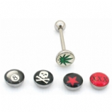 Naughty Logo Novelty Tongue Bar Value Pack - Star / Skull / Eight Ball / Hash Leaf