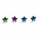 Coloured Star Screw On Attachment For 1.6mm Dermal Anchor