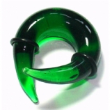 Green Glass Ear Spiral Twist