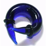 Blue Glass Ear Spiral Twist