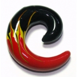 Flame Print Acrylic Ear Hook Spiral