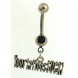 'Your Tattoos Suck' Tattoo Slogan Dangle Belly Bar