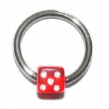 Dice Ball Closure Ring - 1.2mm