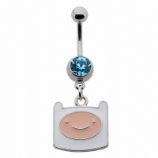 Finn Adventure Time Dangle Licensed Official Belly Bar