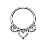 Aeval Celtic Goddess Bendable Surgical Steel Seam Ring