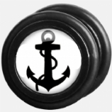 White and Black Anchor Fake Plug