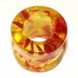 Faux Amber Style Flared Flesh Tunnel