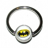 Batman Logo Ball Closure Nipple Ring