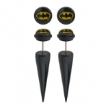 Batman Logo Licensed Official Taper Fake Plugs (Pair)