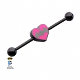 Batman Pink Heart Bat Official Licensed Scaffold Barbell