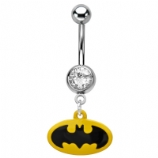Batman Symbol Dangle Licensed Official Belly Bar