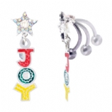 Joy & Star Dangle Christmas Reverse Belly Bar