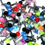 Colourful Ball Or Spike Lip Labret Stud