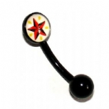 Nautical Star Flexi Eyebrow Piercing Bar