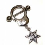Sheriff's Star Dangle Nipple Shield & Bar