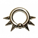 Extreme Spike Thick BCR Ring