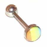 Rainbow Flag Naughty Logo Tongue Piercing Bar