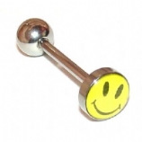 Acid Face Naughty Logo Tongue Piercing Bar