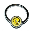 Tweety Logo Ball Closure Nipple Ring
