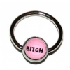 Bitch Logo Ball Closure Nipple Ring