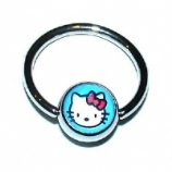 Kitty Logo Ball Closure Nipple Ring