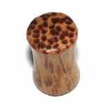 Leopard Print Organic Wood Saddle Plug
