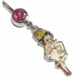 Betty Boop Vegas Showgirl Belly Piercing Bar