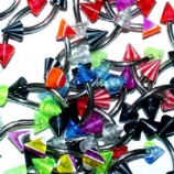 Colourful Ball Or Spike Eyebrow Piercing Bar