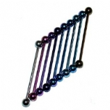 Extra Long Titanium Scaffold Barbell 42mm - 50mm
