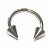 Horseshoe Septum Ring - 1.2mm - Spike