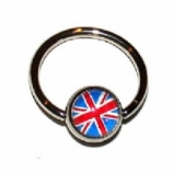 Union Jack Logo Ball Closure Nipple Ring