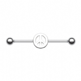 Peace Sign Scaffold Industrial Barbell