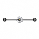 Blackline Small Daisy Flower Scaffold Barbell
