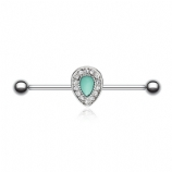 Turquoise Chakra Scaffold Barbell