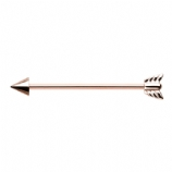 Rose Gold Arrow Scaffold Barbell