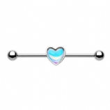 Simple Heart Inlay Scaffold Industrial Barbell