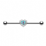 Victorian Filigree Heart Scaffold Barbell