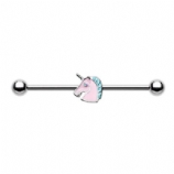Magical Enamel Unicorn Scaffold Barbell