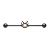 Black Cat Face Scaffold Barbell