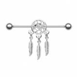 Plain Dreamcatcher & Feathers Scaffold Barbell