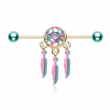 Multicolour Dreamcatcher Scaffold Barbell