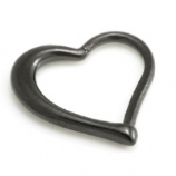 Black PVD Heart Shaped Surgical Steel Hinged Daith Ring Clicker