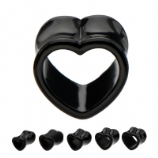Black Heart Flared Tunnel 8mm-16mm