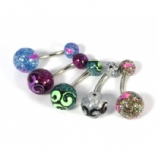 Colour Swirl Super Glitter UV Belly Bar