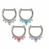 Small Jewelled Septum Clicker Ring